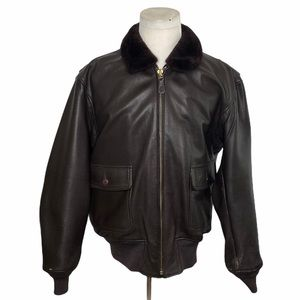 Cooper US Navy Goat Skin Leather Bomber Jacket